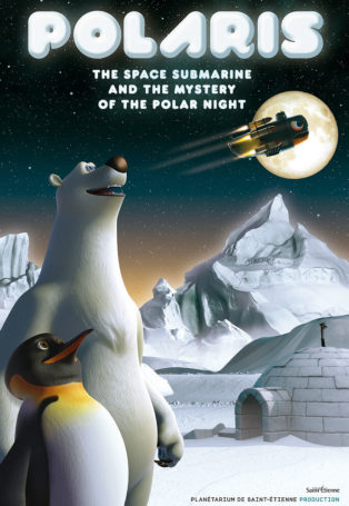 Poster with Polar Bear and Penguin on it for the film Polaris